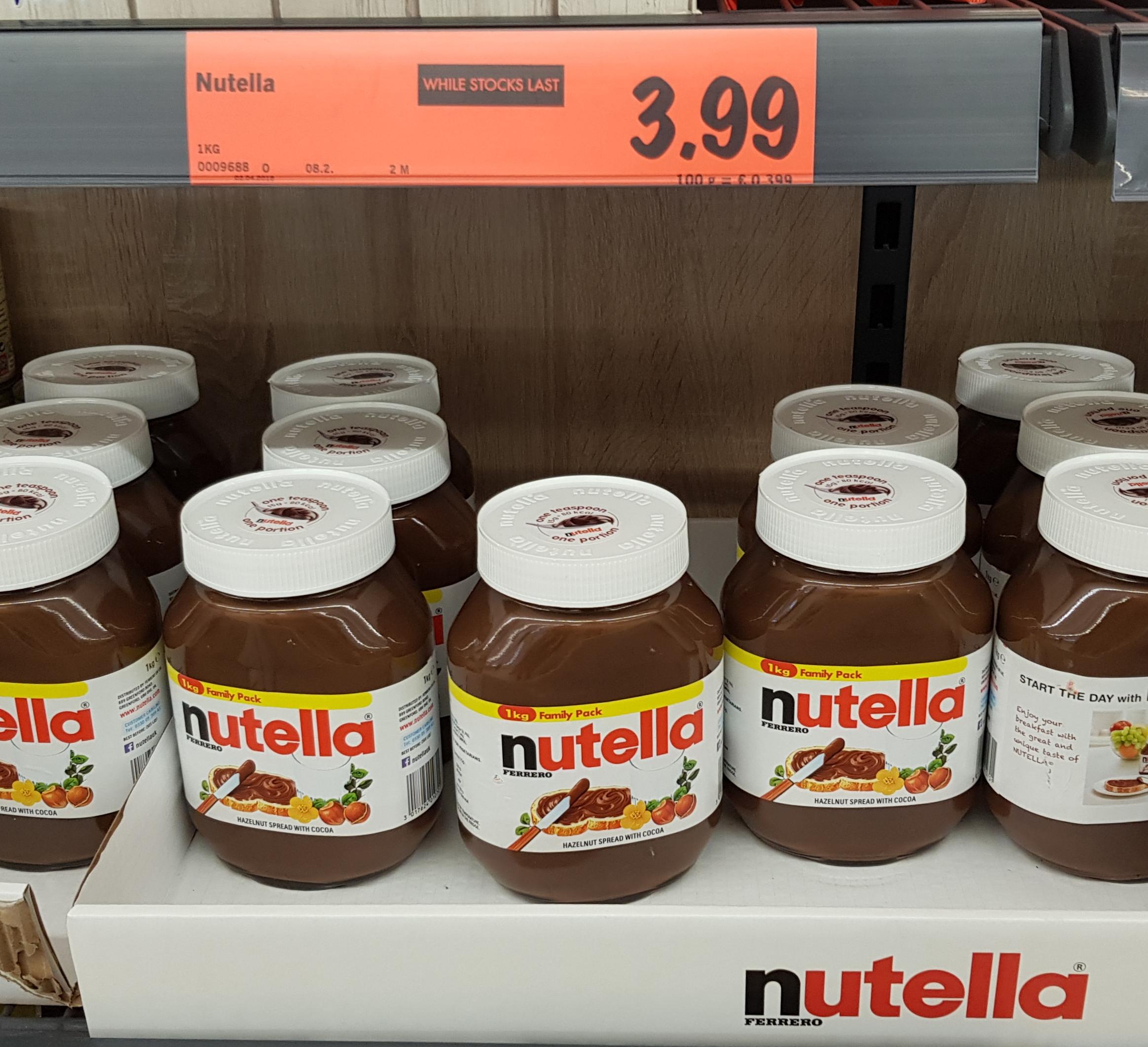 1 KG Nutella for only £3 99 instore @ Lidl - Lidl | AceDealClub