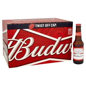ASDA Budweiser Twist Top 24 Pack 24x300 - £12.00 - £1.67/litre