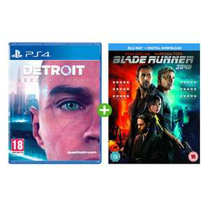 Detroit: Become Human [PS4] Inc Blu-ray Blade Runner  2049 + Digital Soundtrack and Dynamic PS4 Theme £42.29 @ Monster Shop