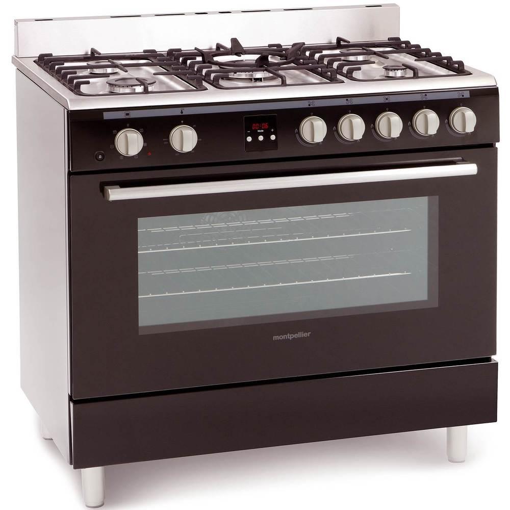 Montpellier MR90DFMK Single Cavity Duel Fuel Range Cooker in Black 5 Burners - £386 @ Co-op / EBAY