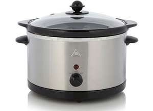 3L Slow Cooker - Stainless Steel for £10 @ George