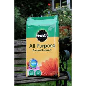 Miracle Gro All Purpose Enriched Compost 100 Litres £9 @ Homebase
