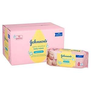 Johnson's Baby Wipes Extra Sensitive 12 Pack @ Tesco for £5