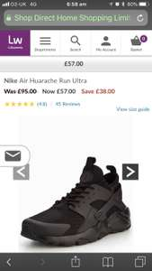 Nike Air Huarache runs ultra (black) at Littlewoods for £57