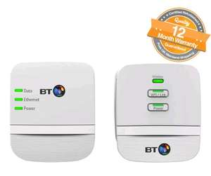 BT Mini Wi-Fi Home Hotspot Broadband 600 Kit Powerline Adapter Pack of 2 - White at Ebay/PhoneOutlet for £21.99 - Refurbished