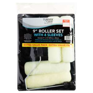 "Turner & Gray 9"" Roller Set & 4 Sleeves 50P @ B & M"