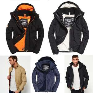 Men's Superdry Jackets from £29.99 - £31.99 @ Superdry / eBay