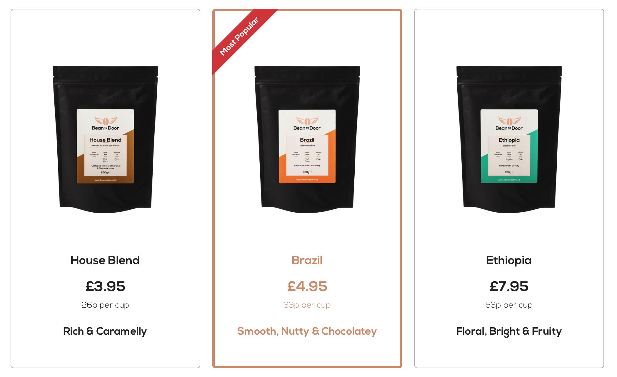 Bean To Door - Voucher £2.95 Off (House Blend now £1)