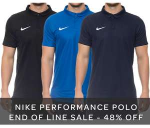 Nike Dri-fit polo shirt - ideal for golf! 48% off RRP - end of line £18.31 + £2.50 delivery - black, navy & royal - Kitlocker