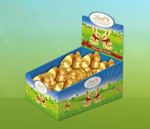 lindt Gold Bunny 10g x 100 Box - £14.70 (£3.95 delivery or free for orders over 40 pounds) @ Lindt