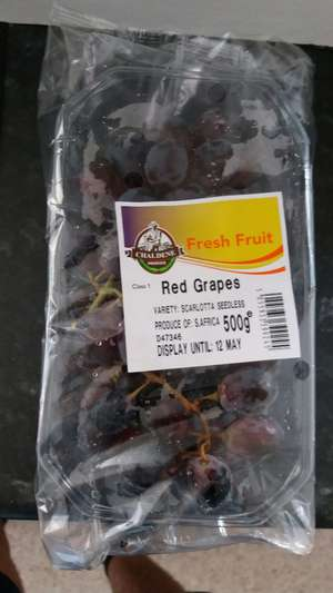 500g Red Grapes only £1 @ Iceland.