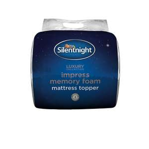 Silentnight Impress 5 cm Memory Foam Mattress Topper, Single £39.99 @ Amazon