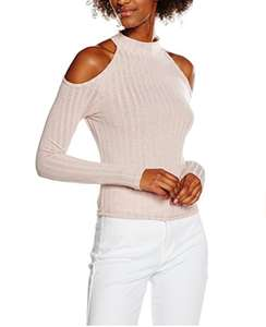 New Look Women's Rib Cold Shoulder T-Shirt amazon add on item minimum 20 pound spend required £3.64