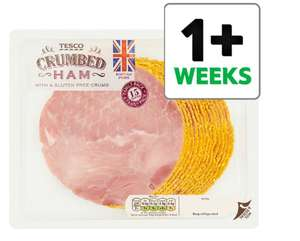Tesco British Crumbed Ham Slices Big Pack 400G for £2