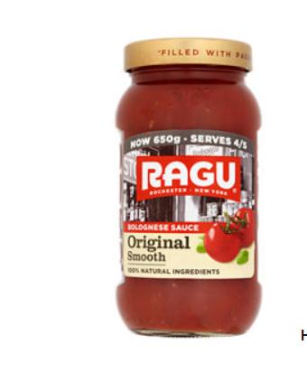 Ragu Original Smooth Bolognese Pasta Sauce £1 asda