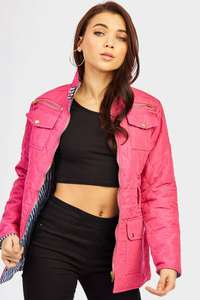 HUGE Upto 85% Off Sale at LOTD ~ Fuschia Quilted Jacket With Belt (was £20) now £3.00 + £3.99 delivery per order (lots more items in OP from £2.00)