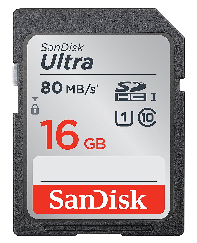 SanDisk Ultra SDHC 16Gb £5.99 prime / £10.48 non prime @ Amazon