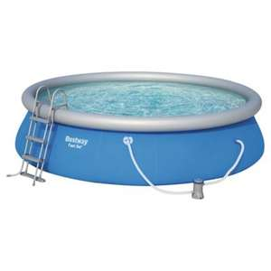 "Bestway 15ft x 42"" Fast Set Swimming Pool with Pump & Ladder - Now £140 + Delivery £7.95 at Tesco Direct"