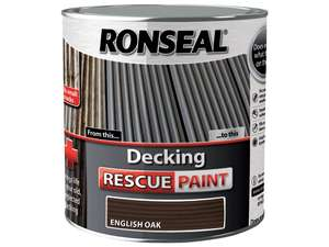 Ronseal 2.5 Litre Decking English Rescue Paint - English Oak - £14 (Prime) £18.75 (Non Prime) @ Amazon