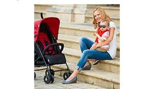 Pushchair with Raincover, from Birth to 22 Kg, Red/Black £58.95 @ Amazon