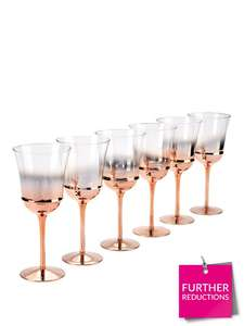 Ideal Home Rose Gold Ombre Wine Glass Set (was £39.99) now just £19.99 @ Very