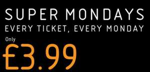 VUE SUPER MONDAYS - EVERY TICKET EVERY MONDAY - £3.99 w/code from VUE - NATIONWIDE (+ every other day, £4.99)