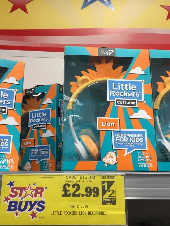 Little Rockers headphones £2.99 in Home Bargains