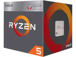 Ryzen 5 2400G CPU with Wraith Stealth Cooler and RX Vega Graphics - Black £123 Dispatched from and sold by CPU-WORLD-UK LTD -Amazon