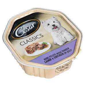 Cesar Lamb & Chicken Tray Dog Food 150g 2 FOR £1 @ Poundland
