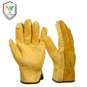 Cowhide/leather work or garden gloves £3.15 a pair delivered at Aliexpress