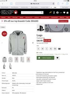 Official licensed PlayStation hoodie £23.99 (+£3.99 del) @ EMP