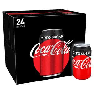 Coca Cola Coke Zero 24X330ml £6.50 @ Tesco