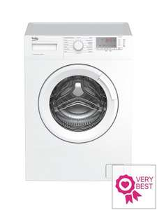 BekoWTG741M1W 7kg Load, 1400 Spin Washing Machine - White at Very was £279 now £179.99