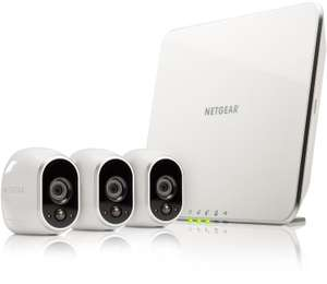 NETGEAR VMS3330 Arlo Smart Home 3 HD Security Camera Kit, 100 Percent Wire-Free, Indoor/Outdoor with Night Vision, Works with Amazon Alexa, White £299.99 Amazon