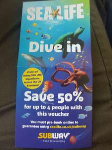 sealife uk 50% off voucher via link