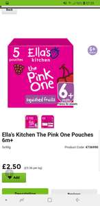 Ella's kitchen smoothies 5x90g various flavours £2.50 (normally £3) instore & online at Asda