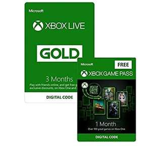 Xbox Live 3 Month Gold Membership + 1 Month Xbox Game Pass FREE - Download Code £14.99 at Amazon