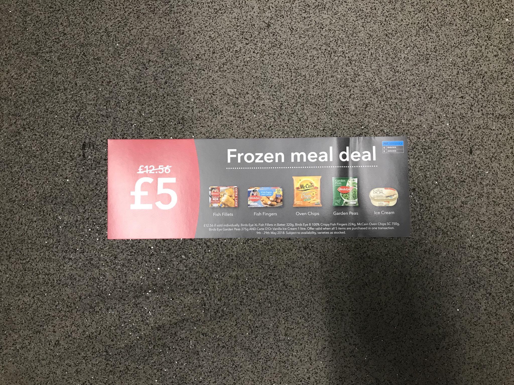 Co op frozen meal deal starts 9/5/18