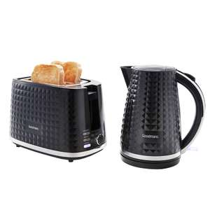 Goodmans Diamond Kettle & Toaster Set - Black - Now £39.99 @ B&M
