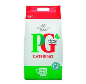 PG Tips 1150 Pyramid Catering Teabags £16 at Groupon + Delivery £1.99