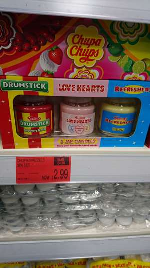 3 x chuppa chups jar candles - £2.99 @ b&m Bromborough / wirral