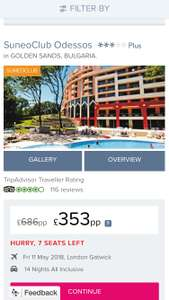 14 nights all inclusive holiday to Bulgaria - £353pp @ First Choice