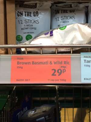 Tilda Brown balsmati and wild rice - 29p instore @ Aldi