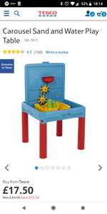 Carousel sand and water play table - £17.50 @ Tesco Direct