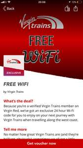 FREE All Access Virgin Trains West Coast on-board WiFi for ALL customers, not just BEAM.