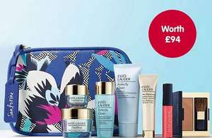 Boots premium beauty deals-free Estee Lauder gift with 2 x £10 items and free gift and £10 worth of points with Clarins