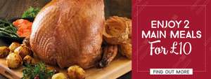 Toby carvery - two  meals for £10 via app