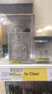 80% Off Official Apple Lightning to USB & Official Ear Buds - Tesco - IN-STORE (possibly national) - £2.66