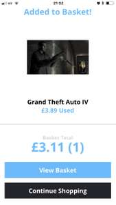 GTA IV (Xbox) PREOWNED FREE DELIVERY - £3.11 @ Music Magpie