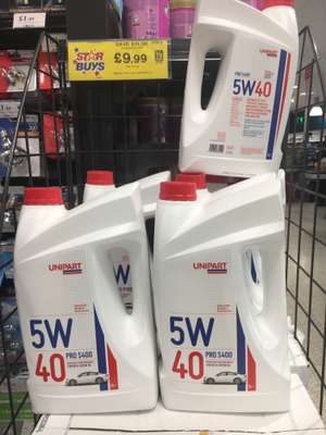 5 Litre - Unipart 5w 40, fully synthetic, suitable for both Petrol and Diesel engine £9.99 instore @ Home Bargains